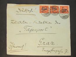 BRIEF Binz - Graz 7.9.1923 Infla  /////   D*48553 - Cartas