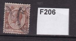 Kenya, Uganda And Tanganyika 1922 1c - Kenya & Uganda