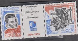 TAAF 1 Triptyque (2t + Vignette) Neuf Xx N°YT 183A - 1993 Meteo France - Corréo Aéreo