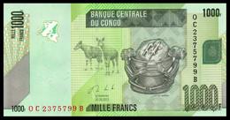 ♛ CONGO DEMOCRATIC REPUBLIC - 1.000 Francs 30.06.2013 UNC P.101 B - Repubblica Democratica Del Congo & Zaire