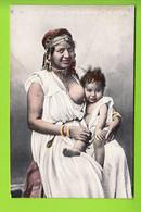 Femme Allaitant Son Enfant. Algérie.  2 Scans. Allaitement. Edition Aqua Photo - Women