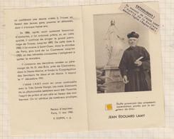 21B588  IMAGE PIEUSE RELIGIEUSE Relique JEAN EDOUARD LAMY 2 SCANS - Devotion Images