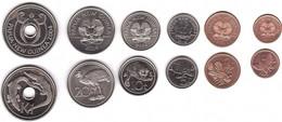 Papua New Guinea - Set 6 Coins 1 2 5 10 20 Toea 1 Kina 2004 - 2014 AUNC / UNC Lemberg-Zp - Papua New Guinea