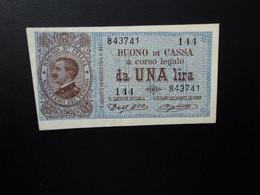 ITALIE * : 1 LIRA  02.09.1914    CI 3 BS 3 ** / P 36a     SUP à SUP+ *** - Italia – 1 Lira