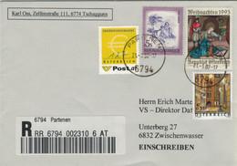 Mischfrankatur S/€ Partenen 6794 Reco 2002 - Mit Ergänzungsmarke - 2001-10 Lettres