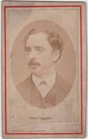 CDV Photo Originale XIXème Dédicace Victor Burgué Par V. L. Richardson De Y Lecca PEROU CHILI PERU CHILE Cdv3012 - Alte (vor 1900)