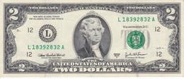 BILLETE DE ESTADOS UNIDOS DE 2 DÓLLARS DEL AÑO 2003 SERIE L (BANK NOTE) SAN FRANCISCO - Biljetten Van De  Federal Reserve (1928-...)