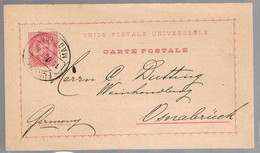 Portugal, 1889, For Osnabruck - Interi Postali