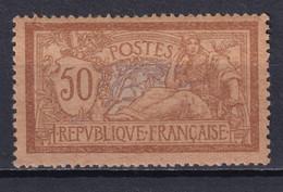 """MERSON - YVERT N° 120d PAPIER GC ** MNH SIGNE CALVES - GOMME """"COULEE"""" - COTE = 450 EUR. - 1900-27 Merson"""