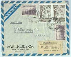 94062 - ARGENTINA - POSTAL HISTORY - REGISTERED COVER To SWITZERLAND 1955 - Briefe U. Dokumente