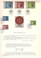 EU35  -  PORTOGALLO 1965   /  BOLLETTINO  FDC   27.9.1965  -  CAT, MICHEL NR.  990/992 - 1965