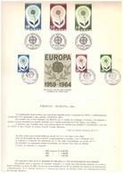 EU36  -  PORTOGALLO 1964   /  BOLLETTINO  FDC   14.9.1964  -  CAT, MICHEL NR.  963/965 - 1964
