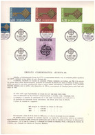 EU38  -  PORTOGALLO 1968   /  BOLLETTINO  FDC   29.4.1968  -  CAT, MICHEL NR.  1051/1053 - 1968