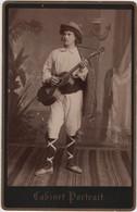Photo Originale De Cabinet XIXème Artiste Acteur Chanteur Opéra Guitare Provenance ITALIE - Alte (vor 1900)