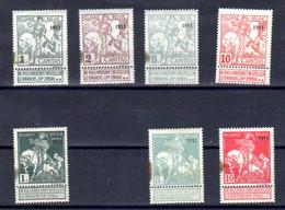 Belgique 1911, Exposition Internationale De Bruxelles, 92…99 (tâche Couleur), Cote 360 €, - 1910-1911 Caritas