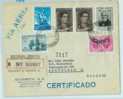 94063 - ARGENTINA - POSTAL HISTORY - REGISTERED Cover  To HOLLAND  1957 - Briefe U. Dokumente