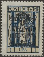 Fiume 1924 Regno D'Italia 1l Sg 221 Mi 190 Sc 192, Y&T 202 Mint MH - Fiume