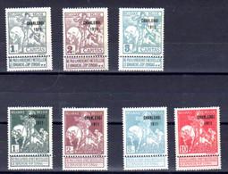 Belgique 1911, Exposition De Charleroi, 100…107 Sans Gomme, Cote 80 € - 1910-1911 Caritas