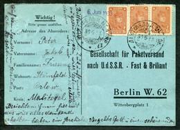 5037 GERMAN Colony In Russia Lichtfeld (Grushevka, Zaporozhye Ukraine) Cancel 1933 Cover To Berlin - Briefe U. Dokumente