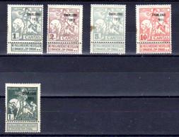 Belgique 1911, Exposition De Charleroi, 100…106 *  Cote 52 € - 1910-1911 Caritas