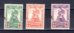 Belgique 1914, Croix-Rouge, « Monument De Mérode », 126 / 128** (avec Tâche), Cote 85 € - 1910-1911 Caritas
