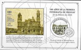 URUGUAY, 2020 ,MNH, PHOTOGRAPHY, 180 YEARS SINCE FIRST PHOTOGRAPH IN URUGUAY, CHURCHES, S/SHEET - Fotografia