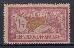 MERSON - YVERT N°121f PAPIER GC ** MNH - 1 DENT En HAUT FRAGILE ! - COTE = 150 EUROS - 1900-27 Merson