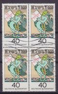 Bundespost 1976 Mi. 902 Todestag Von Hans Jacob Christoffel Von Grimmelhausen Fabelwesen 4-Block !! - Blocs