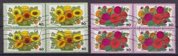 Bundespost 1976 Mi. 905-06 Wohlfahrt Gartenblumen Ringelblumen & Zinnien 4-Blocks !! - Blocs