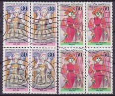 Bundespost 1976 Mi. 908, 910 Bedeutende Deutsche Frauen Frederike Caroline  Neuber & Louise Dumont 4-Blocks !! - Blocs