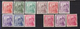 Año 1948 Edifil 1024 A 1032 General Franco Castillo De La Mota , Variantes Color - 1931-50 Unused Stamps