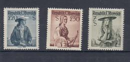 Österreich Michel Kat.Nr.  Postfr/** 978/980 - 1945-60 Unused Stamps