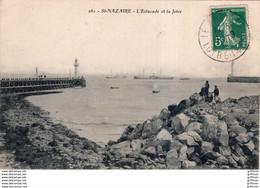 SAINT NAZAIRE L'ESTACADE ET LA JETEE 1910 TBE - Saint Nazaire