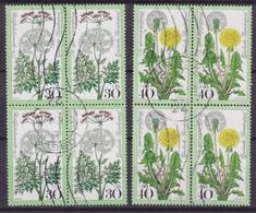 Bundespost 1977 Mi. 949-50 Wohlfahrt Wiesenblumen Kümmel & Löwenzahn 4-Blocks !! - Blocs