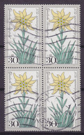 Bundespost 1975 Mi. 867 Wohlfahrt Alpenblumen Edelweis 4-Block !! - Blocs