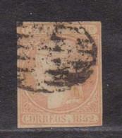 Año 1852 Edifil 14 2r Isabel II  Membrete De A.Roig En El Dorso. Dictamen CEM - Ungebraucht