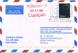 Netherlands Antilles Air Mail Cover Sent To Germany Curacao 16-10-1998 Single Franked - Curacao, Netherlands Antilles, Aruba