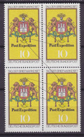 Bundespost 1977 Mi. 948 Tag Der Briefmarke Jour De Timbre Day Of Postage Stamp (Pen Cancelled) 4-Block !! - Blocs