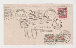 AFRIQUE DU SUD, LSC De 1938 De Johannesburg Taxée à Son Arrivée En Suisse - Brieven En Documenten