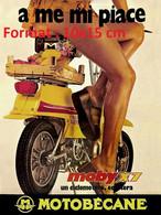 Reproduction Photographie D'une Publicité Ancienne MobyX7 De Motobécane A Me Mi Piace - Reproductions