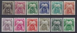 Yv  TX 78 à 89 , Types Gerbes ** - 1859-1955 Neufs
