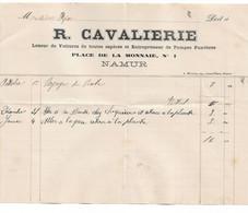 R. Cavalierie Loueur De Voitures Et Pompes Funèbres Namur Relevé Partiel Vers 1895 M. Oger (entrepreneur La Plante) - 1800 – 1899