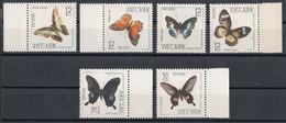 Vietnam 1965 Mi 405 – 410 Butterfly Series MNH - Vietnam