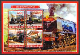 Burkina Faso 2019 Transport Train OBLITERE - Burkina Faso (1984-...)