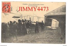 CPA - ETAMPES En 1910 - L'Ecole D'Aviation Henri Farman - La Sortie Du Hangar - Edit. Lib. Flizet - Cliché Legrand - Aerodromes