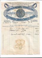 Heldenbergh, Van Den Broele & Pigeaon Equipements Militaires Bruxelles Facture Sous Lieutenant Petit 16 A 1922 - Other