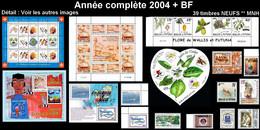 WALLIS ET FUTUNA Année Complète 2004 + BF 14 à 18 - Yv. 614 à 627 + … ** MNH   - 39 Timbres  ..Réf.W&F22636 - Full Years
