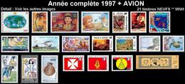WALLIS ET FUTUNA Année Complète 1997 + AVION PA197 à 202 - Yv. 497 à 511 + … ** MNH   - 21 Timbres  ..Réf.W&F22640 - Full Years