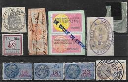 France Fiscaux Lot De 11 TF 1883-19xx O - Fiscale Zegels
