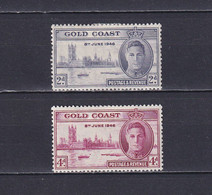 GOLD COAST 1946, SG# 133-134, CV £33, Architecture, MH - Goldküste (...-1957)